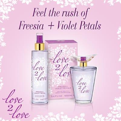 Freesia + Violet Petals